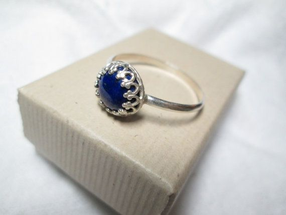 Lapis Lazuli Handforged Sterling Silver Ring 8mm by palilicium, $39.00  #jewellery #engagement #bridal #engagement ring #bride #jewelry #ring #etsy #rings #silver #handforged sterling silver ring #handforged sterling silver rings #handforged silver ring #gemstone #gemstones #sterling silver #fashion #jewels #gems #metalwork #hand-forged #handforged  #palilicium #stacking rings #knuckle rings #lapis lazuli #lapis lazuli ring #lapis lazuli silver ring