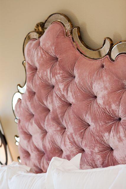 Pink Velvet Headboard