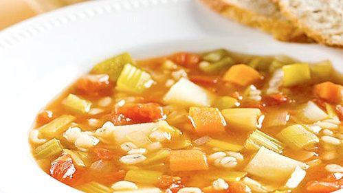 Soupe aux légumes et à l'orge à la mijoteuse :D