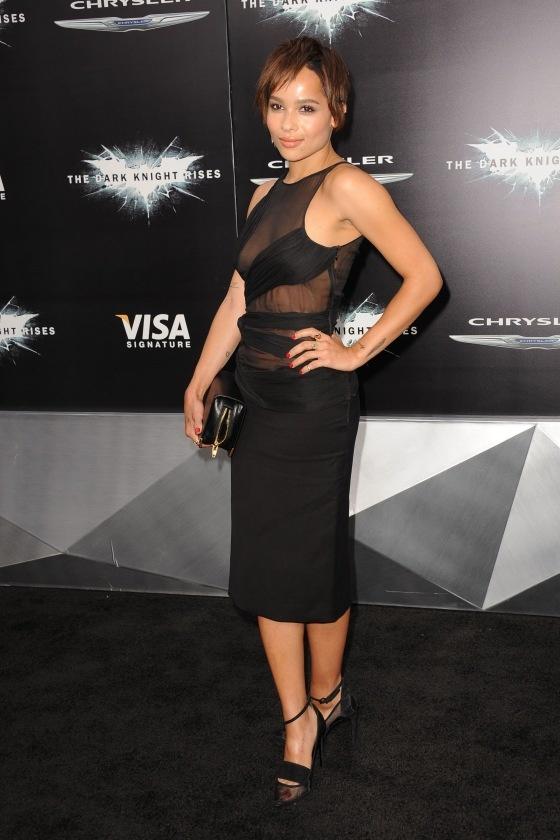 Zoe Kravitz at 'The Dark Knight Rises' World Premiere, held at the AMC Lincoln Square IMAX Theater in New York City.