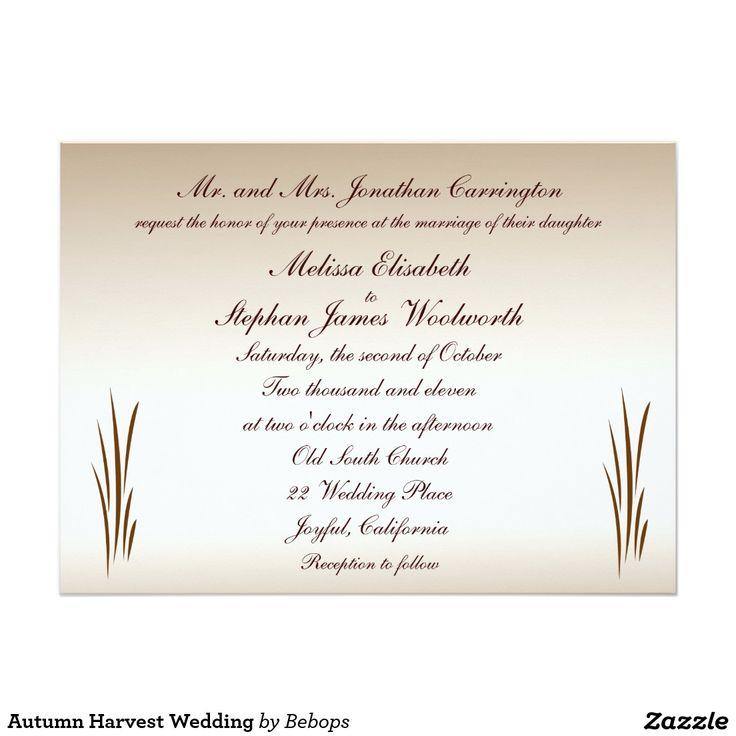 29 best Fall Wedding Invitations images on Pinterest