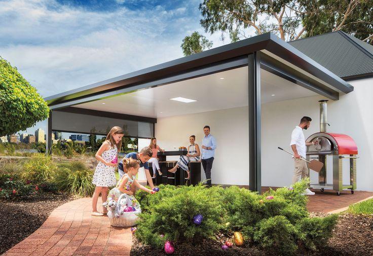 Pavilion - Outdoor Living Patio by Stratco – Architectural Design- Slique grey