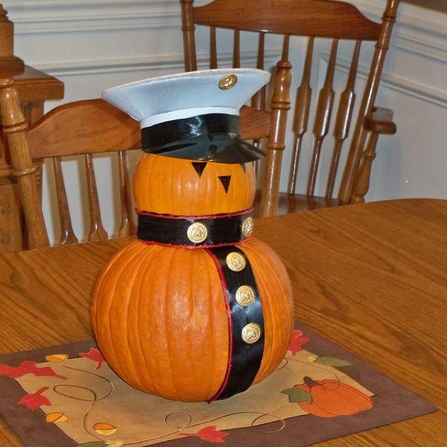 Marine Corps pumpkin                                                                                                                                                     More