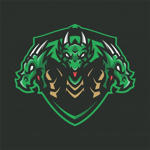 Dragon Hydra Mascot Head Sport Logo Sports Logo Design Logo Dragon Animal Logo