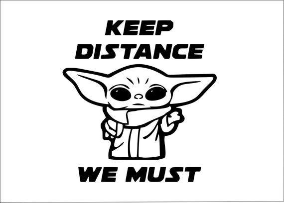 Download Baby Yoda Keep Distance svgDisney SVG Essential SVG | Etsy ...