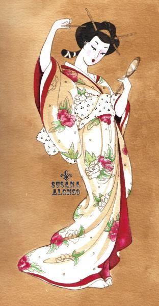 fine artistic geisha art | Traditional Geisha by Susana Alonso Japanese Tattoo Art | eBay