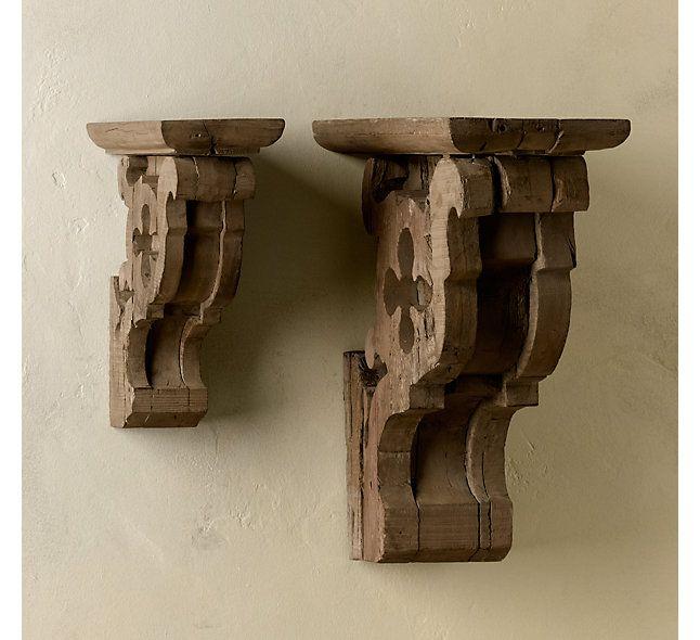 Rh S Gothic Corbel Amp Glass Shelf We Ve Repurposed Designs