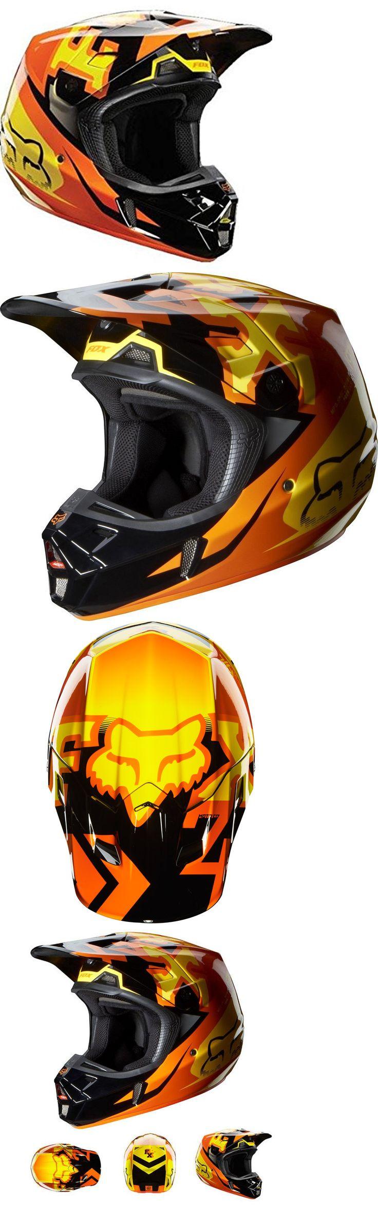 Helmet Accessories 177865: New Fox Racing Anthem Mens V2 Motocross Motorcycle Helmet Orange Size Xs -> BUY IT NOW ONLY: $179.99 on eBay!