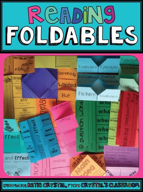 Lots of great foldable ideas for reading- cause and effect, summary, main idea, prediction, character traits, story elements, so on.