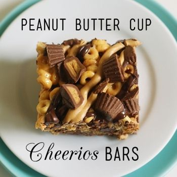 Peanut Butter Cup Cheerios Bars Recipe - Just made these for my 4 brothers! Love but use 16 oz of marshmallows instead of 10