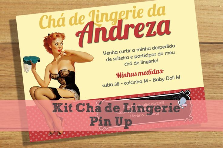 Noiva Plugada: Kit Chá de Lingerie Pin-Up | Download Grátis