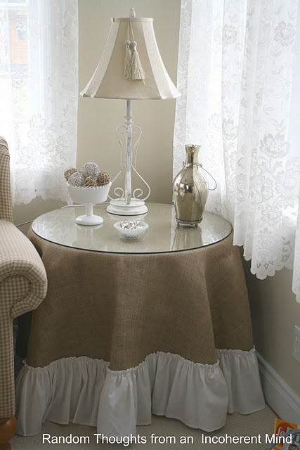 This is how my reading/relaxing chair & table are set up in my bedroom now but I need a change up.