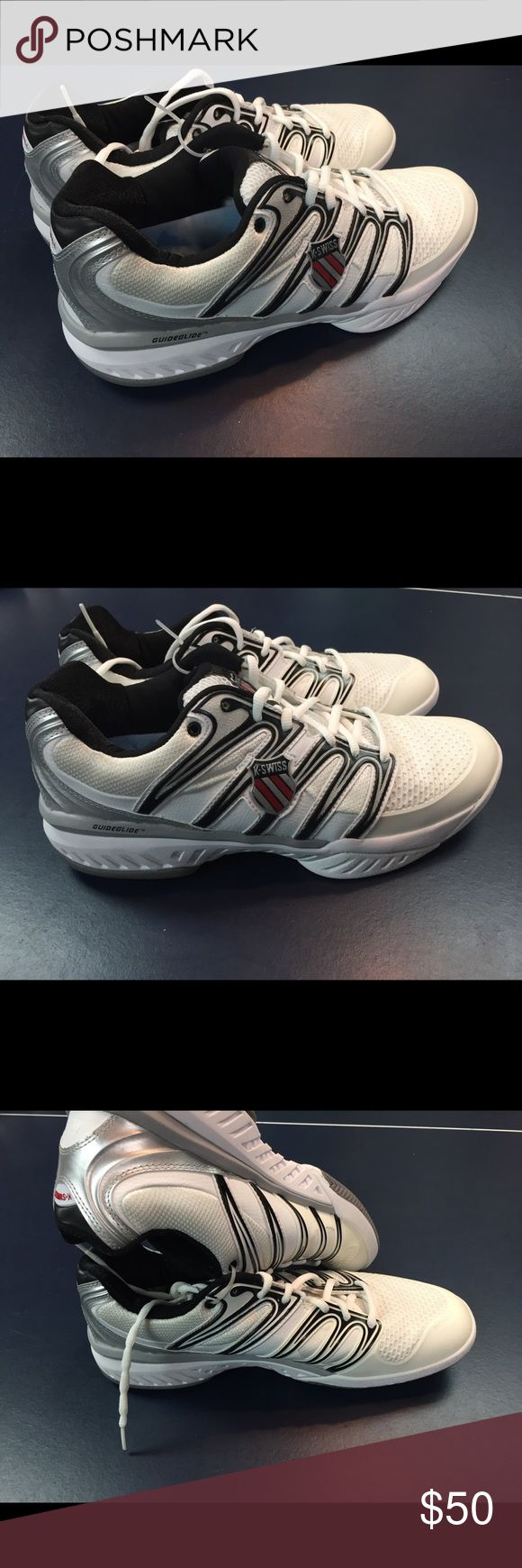 K•Swiss men's shoes size 12, new Price is for 1 pair of men's size 12. Shoes are new, unworn and out of box. Does not include manufacturers packaging. K Swiss tennis shoes. K Swiss Shoes