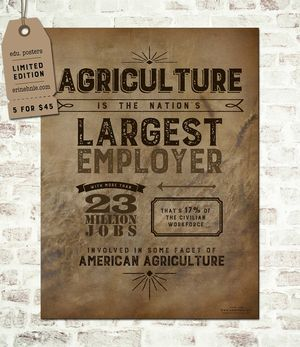 Nation's Largest Employer - 1 of 5 Designed Posters in Set