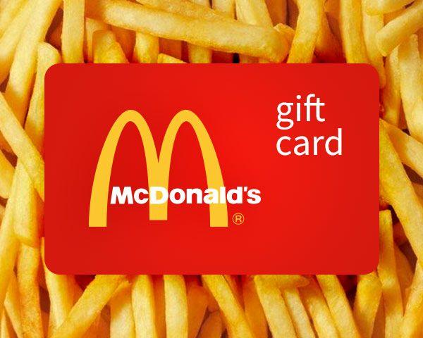 $25 McDonald's Gift Card Sweepstakes