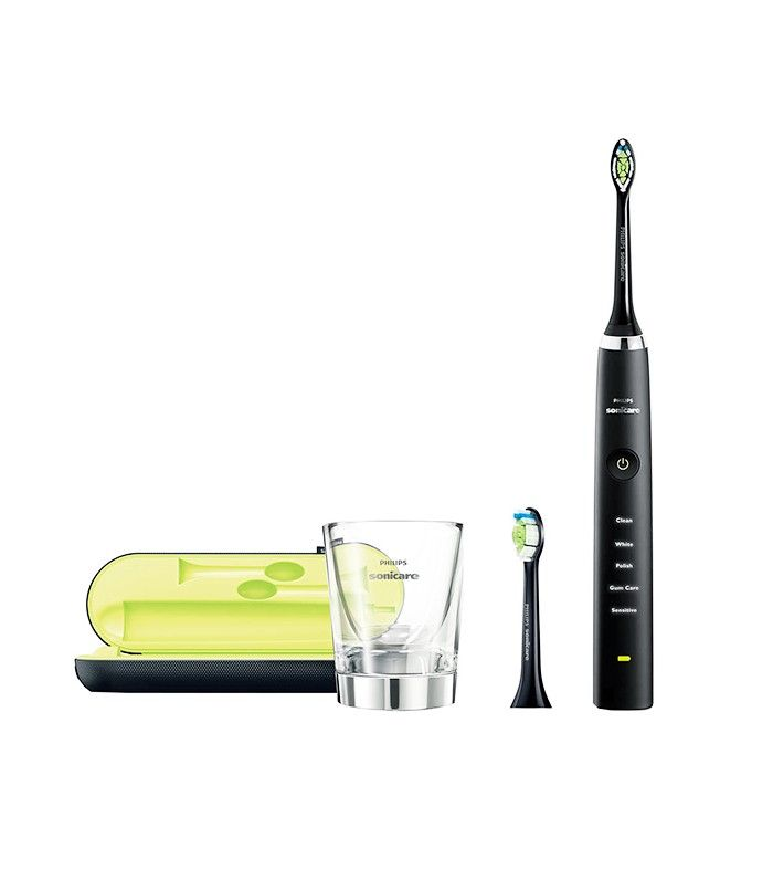 """Dentists Agree: These Are the 5 Things You Need for a Better Smile via @ByrdieBeauty  Best Mechanical Toothbrush: Phillips Sonicare DiamondClean Rechargeable Electric Toothbrush ($190)  Dr. Tina Giannacopoulos of Boston Dental swears by this motorized toothbrush for a deep clean. """"It's gentle and extremely effective, and it helps that it's also pretty and charges in a glass cup."""""""