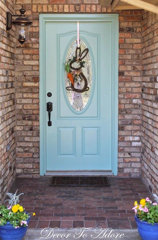 painting a front door - Decor to Adore