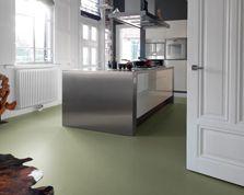 Rosemary Green marmoleum in de keuken