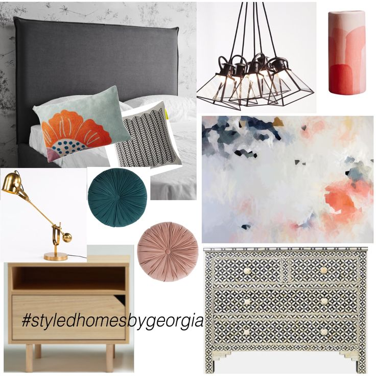 Another stunning moodboard for our client's master bedroom. If you would like some help in styling/decorating/dressing your home and would like a moodboard just like this, please contact us via georgiasalley@yahoo.com for further info. #uistylistscout #moodboard #interiors #design #master #masterbedroom #styledhomesbygeorgia #melbournestylist #propertystylist #interiordecorator