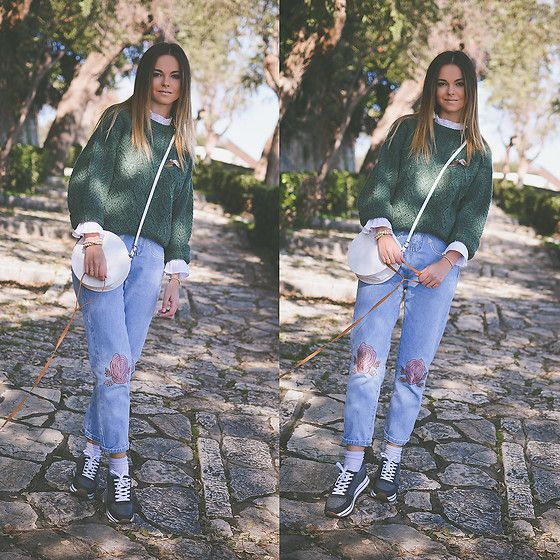 Get this look: http://lb.nu/look/8504225  More looks by Tamara Bellis: http://lb.nu/tamarabellis  Items in this look:  Zaful Jeans, Handmade Sweater, Wholesale7 Blouse, Pull & Bear Sneakers   #casual #chic #street