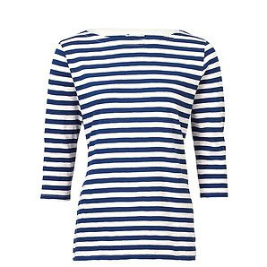 Ladies' 3/4 Sleeve Slub Top - Blue Stripe – Target Australia - a nautical mariners top is a basic in any wardrobe no matter your style - this is a good one - $25 sizes 4 - 20 - check it out.