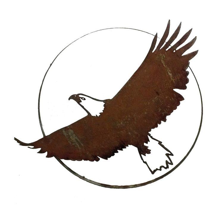 "Soaring Bald Eagle in 26"""" Ring"