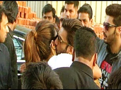 Ranveer Singh caught KISSING Priyanka Chopra in public.
