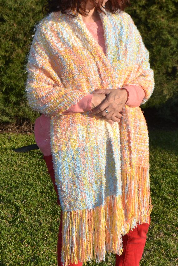Handwoven Stole/Handwoven Shawl /handwoven  Wrap / hand knit