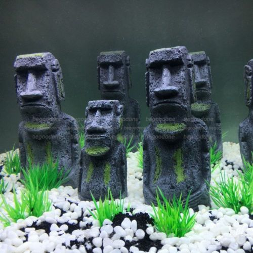 2pcs-Aquarium-Ornament-Easter-Island-Statue-Fish-Tank-Rock-with-Face-Heads-Decor