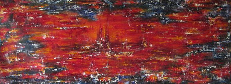 Hiver sur la Planète rouge - 2016 Huile/toile 26 x 68 po. (66 x 173 cm) 1700$