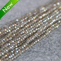 2.015 New Pre náhrdelník a náramok 3 * 4 mm fazetované Gray AB + farebné sklo Crystal Jasper perle voľné 15-palcová DIY výrobu šperkov dizajnu