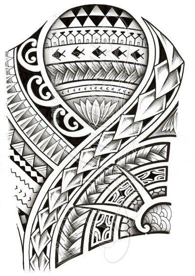 Polynesian 3/4 sleeve 01-A by dfmurcia on @DeviantArt