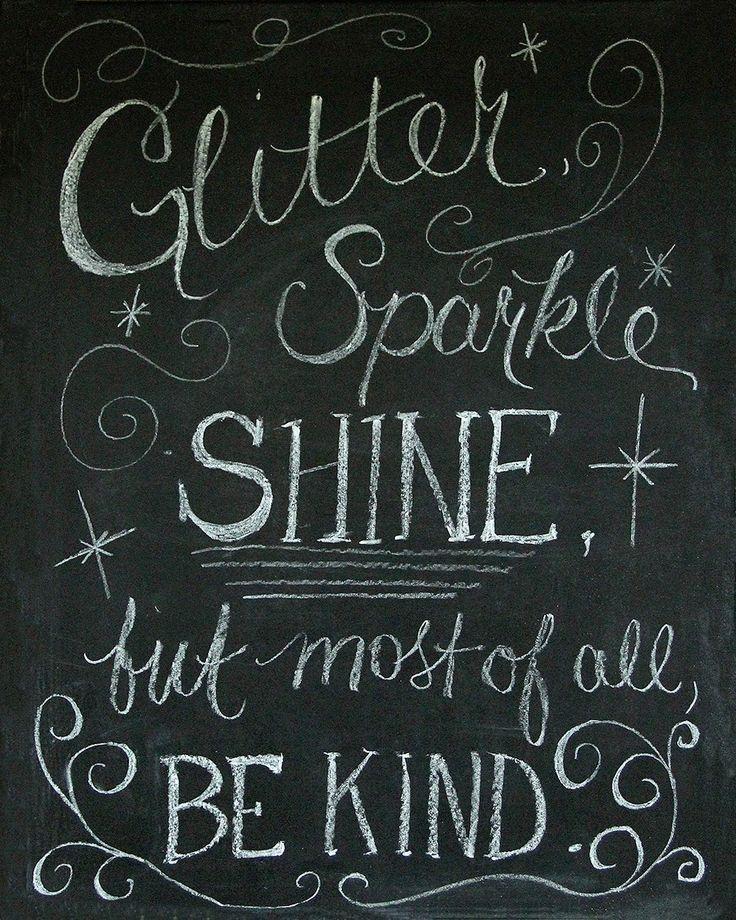 #bekind Chalkboard Art and Free Printable!