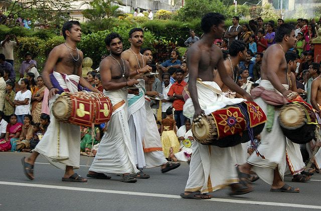 Kerala Onam Pictures: Onam Drummers