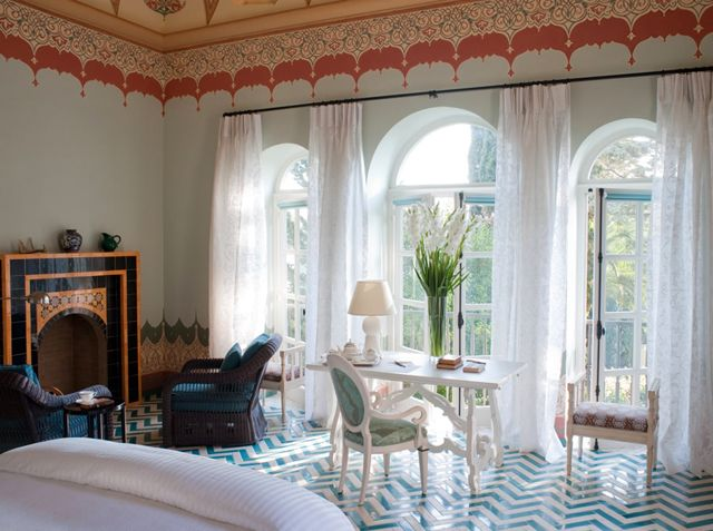 Owned by director Francis Ford Coppola, the Palazzo Margherita is a resort situated in southern Italy. The 19th century mansion serves homemade Italian cuisine and shows old Italian movies nightly in the salon.