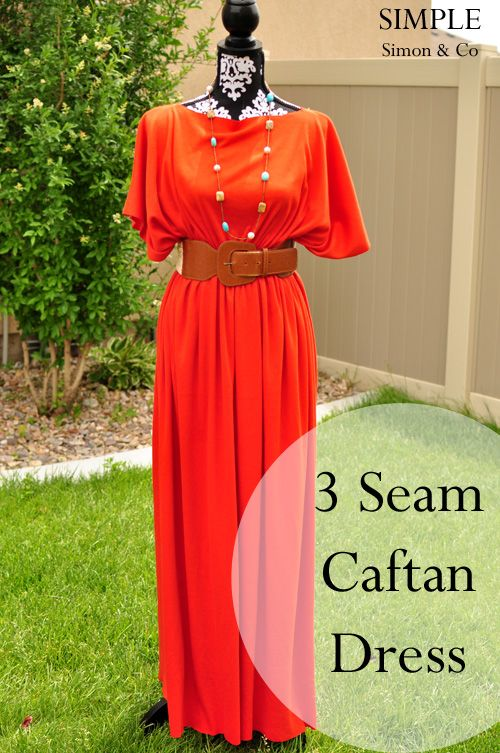 Simple Simon & Company: A 3-Seam Caftan Tutorial.: Craft, Sewing Projects, Diy Dress Tutorial, Diy Maxi Dress, Caftan Dress, Maxi Dress Tutorial, Sewing Machine, Three Seam