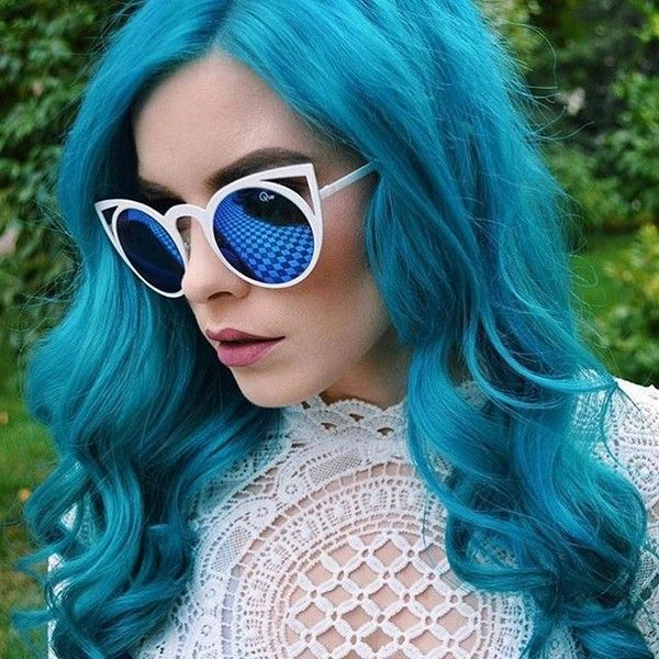 Manic Panic haircolor, bad boy blue & atomic turquoise