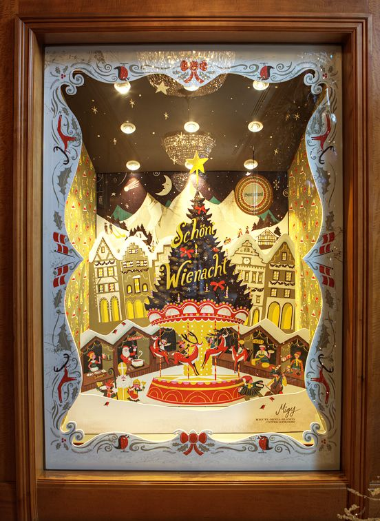 Christmas window displays for the Grand American Hotel in Salt Lake City