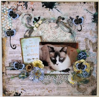 ShelbyDoodle Designs: Always and Forever Cat scrapbook layout