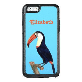 Vintage Toucan Illustration Personalized OtterBox iPhone 6/6s Case