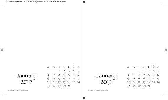 2019 Diy Create Your Own Desktop Desk Calendar Pdf Gift Printable