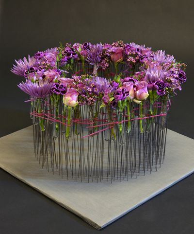 Purple flower arrangement | With flowers as inspiration - Interflora flowers