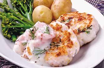 Fishcakes with prawn sauce recipe - Recipes - goodtoknow