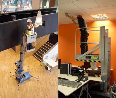 At great heights or just over a desk we have access platforms to suit