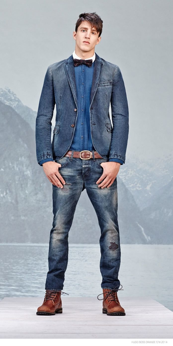 Hugo Boss Orange Revisits Denim Styles for Fall/Winter 2014 image Hugo Boss Orange Fall Winter 2014 Collection Look Book Denim Styles 003