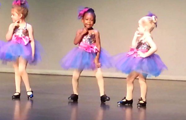 Little Girl's Hilarious Tap Dance Choreography (Video)