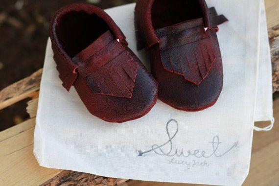 Baby Moccasin Moccs Moccasins Leather Girl Boy by SweetLucyJack, $23.00