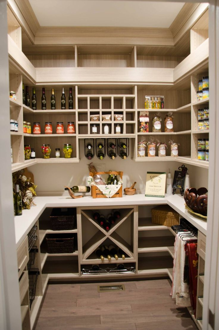 Love Some Of The Features Of This Pantry, Like The Little Mini Cubbies For  Small Packets, Different Size Shelves. Add A Tiny Wine Rack