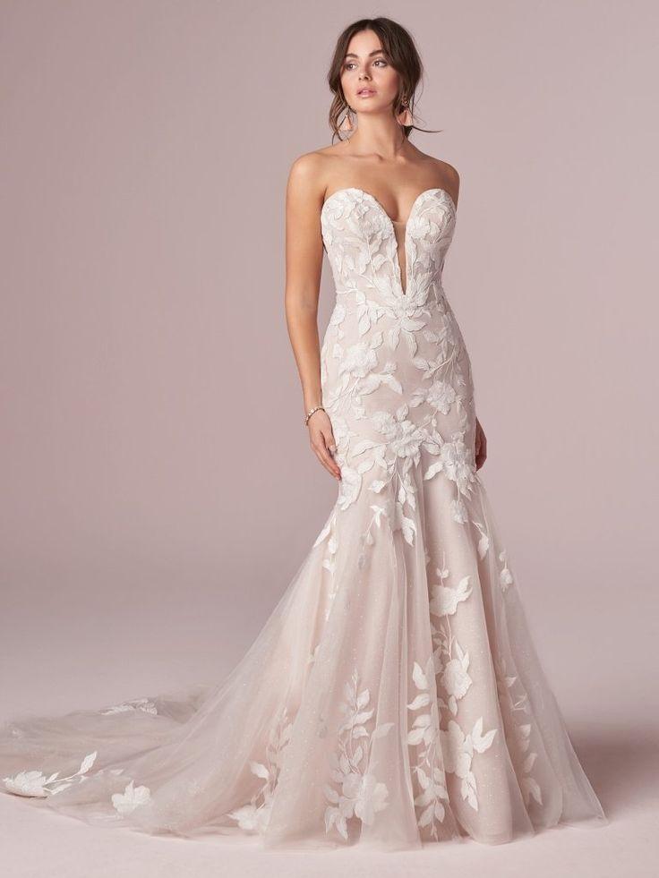 Strapless Mermaid Lace Bridal Gown | Rebecca Ingram Hattie