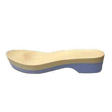 Zoccolo anatomico in legno e gomma microporosa lilla